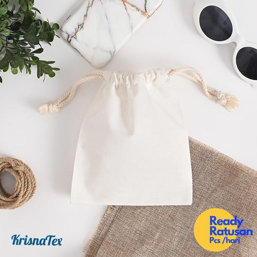 Foto Produk Pouch Serut Blacu Medium ( Kantung String bag) dari KrisnaTex