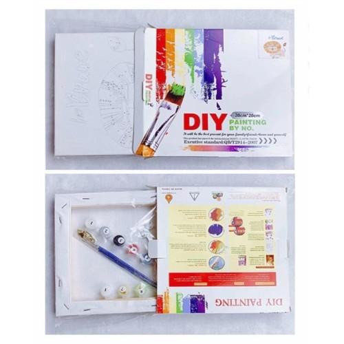Foto Produk Paint by Numbers Kit DIY - tiger dari Brandystore