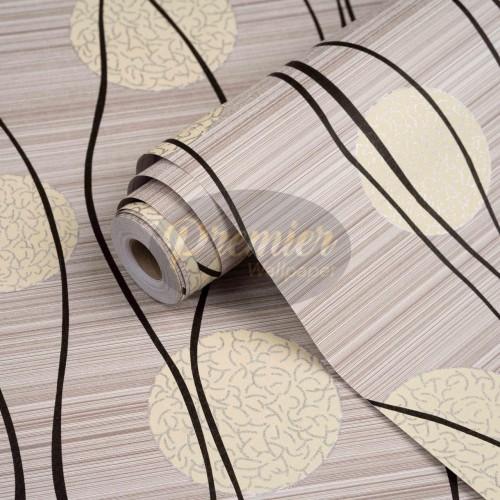 Foto Produk Bunga Dandelion Cream Wallpaper | 45 CM x 10 M dari Premier Wallpaper