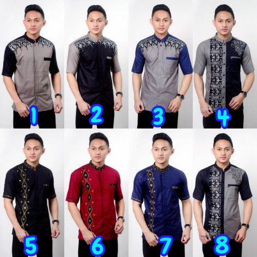 Foto Produk BAJU KOKO PRIA MEN CLOTH   KEMEJA KOMBINASI LENGAN PENDEK MIX SERIES dari Batik Tajir