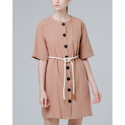Foto Produk THIS IS APRIL - Castila Dress - Khaki 773211 dari This Is April