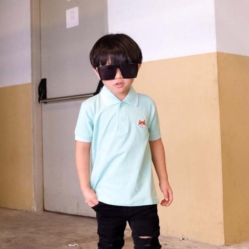 Foto Produk Polo Shirt Anak-Anak Warna Tosca Usia 1-9 Tahun  P010 by Little Jergio - SMALL dari Little Jergio