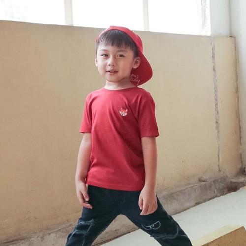 Foto Produk Kaos Polos Anak - Anak| B001 - Maroon by Little Jergio - MEDIUM dari Little Jergio