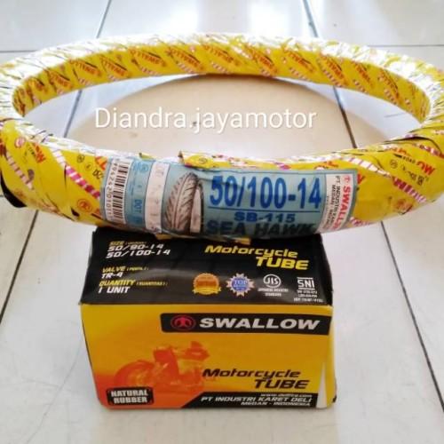 Foto Produk Paket ban matic swallow+ban dalam uk.50/100.ring 14 dari Bahiraah