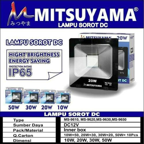 Foto Produk Lampu Sorot LED DC / Lampu Tembak LED IP65 20 Watt Mitsuyama MS-9620 dari suparmi shop