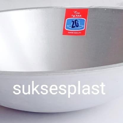 """Foto Produk Wajan/Kuali/Penggorengan 20"""" AAA aluminium 50 cm dari sukses makmur plast"""