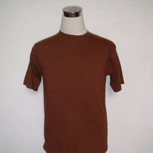 Foto Produk Kaos polos coklat ukuran XS - XXXL cotton combed - Cokelat, XS dari Snake collection