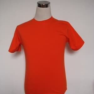 Foto Produk Kaos polos orange ukuran XS - XXXL cotton combed - Orange, XS dari Snake collection