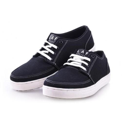 Foto Produk Sepatu sneakers pria casual bukan Vans White Black Geoff LAF Project - Hitam, 40 dari LAF Project
