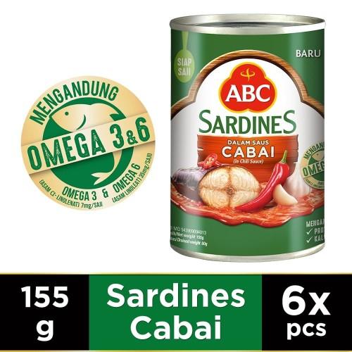 Foto Produk ABC Sarden Saus Cabai 155 g - Multipack 6 pcs dari HEINZ ABC Official Store