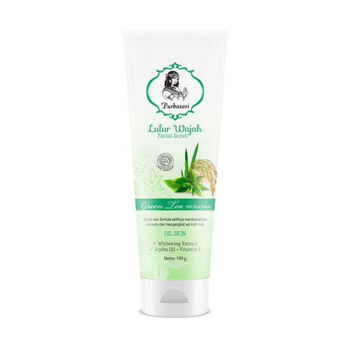 Foto Produk Purbasari Lulur Wajah Facial Scrub 100g - GREEN TEA dari Debelleza Shop