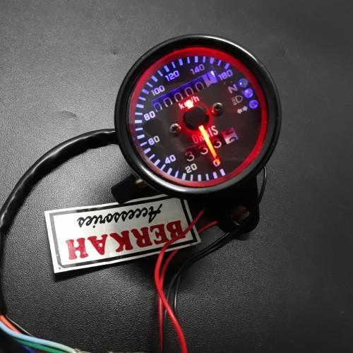 Foto Produk Rpm speedometer jarum led indikator km sen lampu jauh netral universal dari berkah accesories