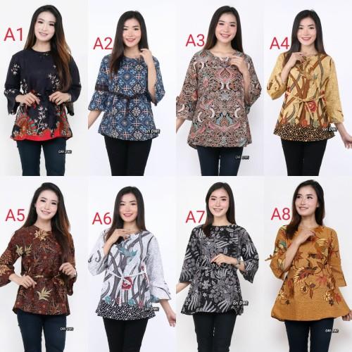 Foto Produk baju atasan batik wanita blouse dari Batik Awab