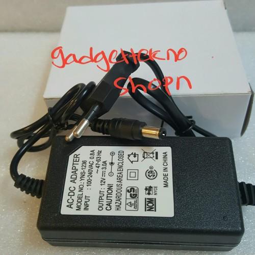 Foto Produk ADAPTOR 12V 3A PROMO SUPER MURAH ADAPTOR 12V 3A dari gadgettekno shopn