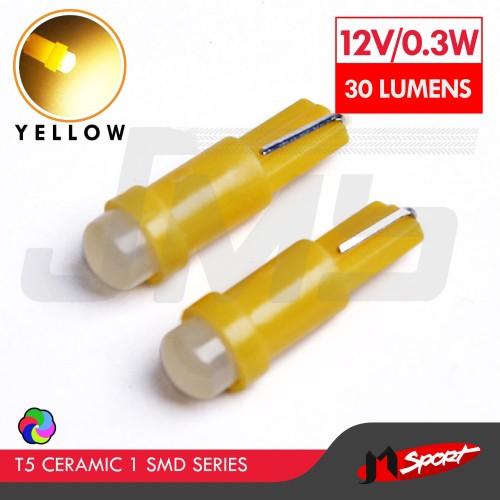 Foto Produk Lampu LED Mobil / Motor / Speedometer T5 Ceramic 1 SMD - Yellow dari Jaya Motorsport