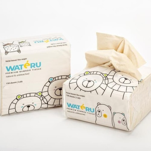 Foto Produk Wateru Premium Bamboo Tissue - Table Tissue (150s) - Table Tissue dari Chubby Baby Shop