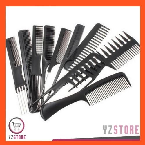 Foto Produk Sisir Rambut Alat Salon Potong Rambut 1 Set 10 PCS YZ39 dari Yz Store