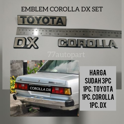 Foto Produk Emblem logo corolla dx set 3pc dari 77autopart
