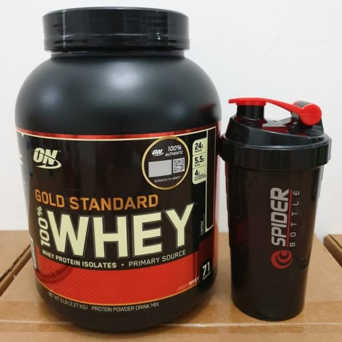 Foto Produk ON OPTIMUM NUTRITION WHEY GOLD STANDARD 100% WHEY PROTEIN 5 LB 5LBS dari everydayimfitness