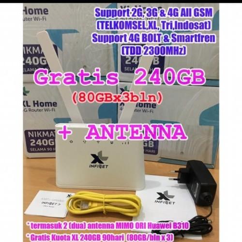 Foto Produk Home Router 4G unlock Huawei B310 free 240gb dan antena indoor dari Autoloot