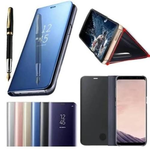 Foto Produk Samsung S6 Edge Flip Mirror Case Sarung Clear View Stand Casing Cover dari Indo Smart Acc