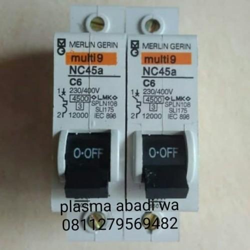 Foto Produk MCB Merlin Gerin NC45a 1phase 6A 10A 16A 20A dari PLASMA ABADI