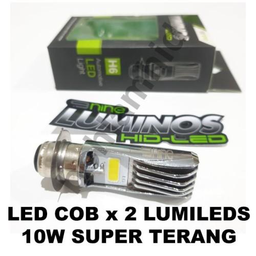 Foto Produk Lampu Motor LED Luminos SUPRA X 125 FI 9NINE PNP H6 M5 T19 Putih dari Bohlam HID