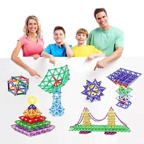 Foto Produk Mainan Edukasi Anak / Mainan bangunan 4 Dimensi Magnetik Building dari Rumah Susun