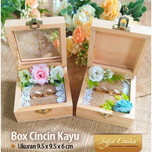Foto Produk Kotak Cincin Kayu / Ring box / Box Cincin / Mahar Kayu - TK Tanpa Nama dari Jogja Etnika