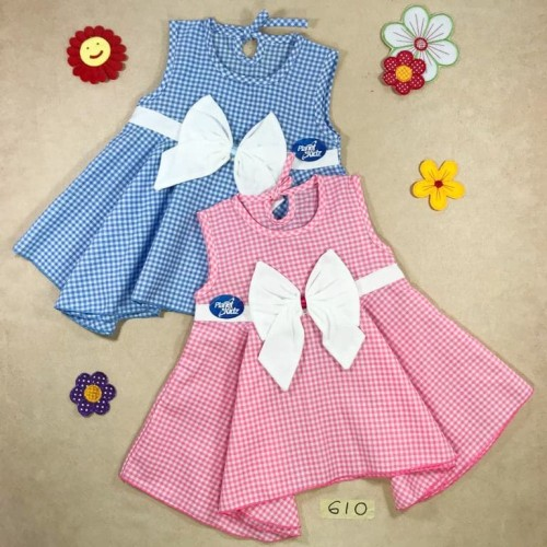 Foto Produk Dress Bayi Katun All Size Model Pita dari Alohaclothing