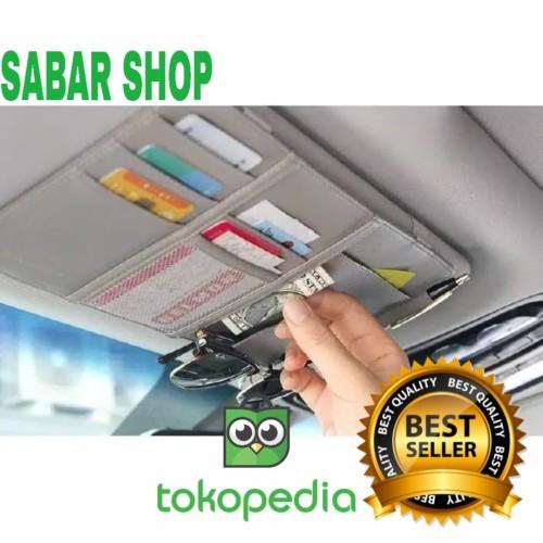 Foto Produk Sun Visor Premium Bahan Kulit Car Organizer Tempat Kartu dari Sabarshop