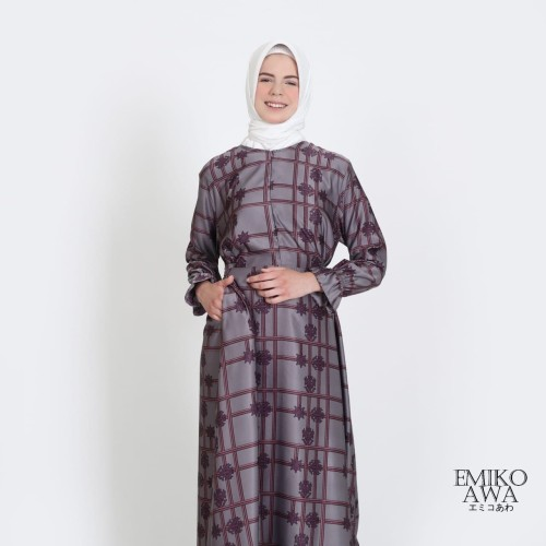 Foto Produk Baju Gamis Wanita Terbaru Sentani - Emikoawa Muslim Maxi Busui Syari - Abu-abu dari emikoawa