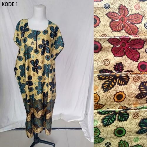 Foto Produk Grosir Daster Midi Jumbo Rayon Busui Zipper Murah Baju Tidur Kode 1 dari Tshirt Kita
