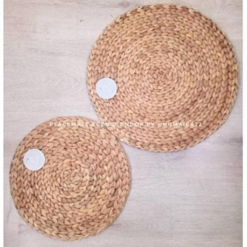 Foto Produk Placemat eceng gondok/alas piring/alas meja dari Qirab Busana