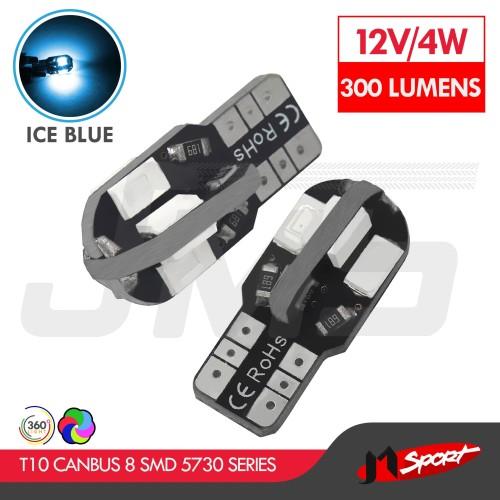Foto Produk Lampu LED Mobil/Motor/Senja T10/Wedge Side Canbus 8 SMD 5730-Ice Blue dari Jaya Motorsport