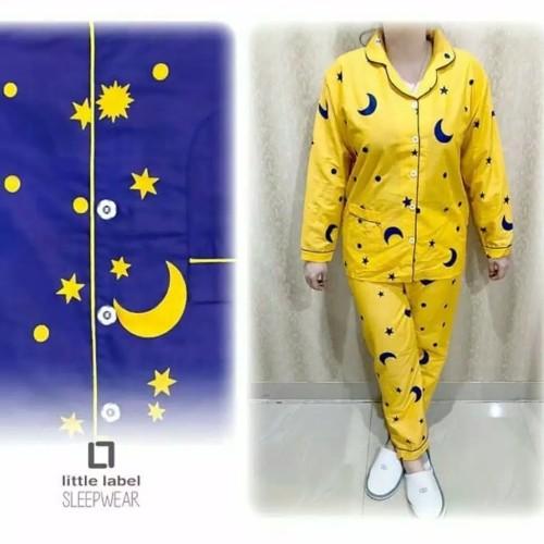 Foto Produk Baju Tidur Piyama Wanita/Cewek Dewasa Pajamas Katun Pp Starmoon dari Chel'z Shop