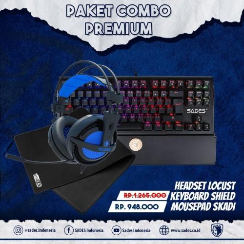 Foto Produk Paket Combo Premium Sades Gaming Gear dari Sades Official Store