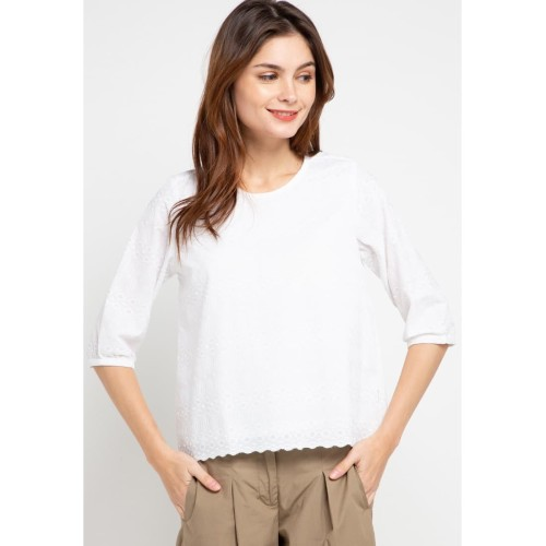 Foto Produk Rodeo - Blouse Wanita - Winnie Top - White - M dari Rodeo Official
