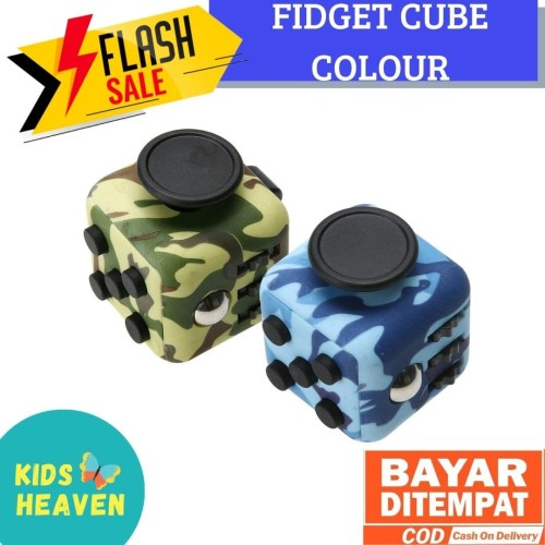 Foto Produk Fidget Cube Premium - Full Colour Color Motive Motif Camouflage dari cabokimurah