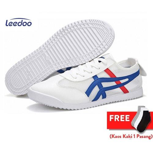 Foto Produk Leedoo Sepatu Pria Sepatu Snaekers Pria Sepatu Import Pria MC202 - Putih, 42 dari Leedoo
