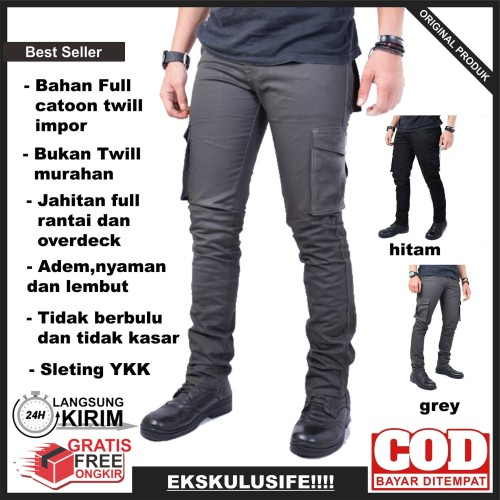 Foto Produk Celana Panjang cargo pria fashion cowok celana gunung tactikal pria - Abu-abu, XL dari AnF Store23