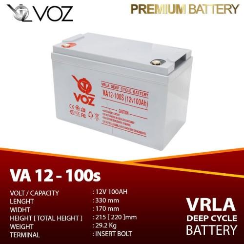 Foto Produk Voz 12V 100 Ah Deep Cycle - Baterai UPS | Solar Cell dari manekistore