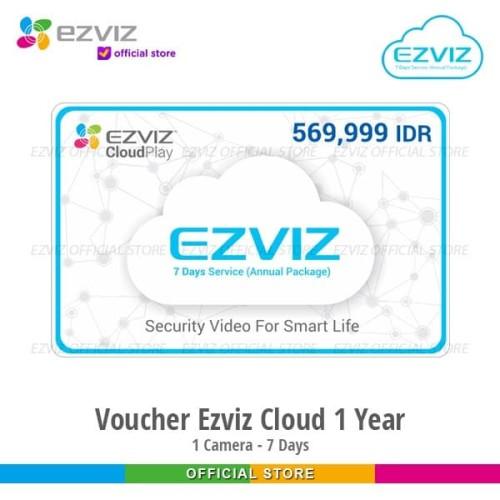 Foto Produk Ezviz Cloud Storage 24 Jam Rekaman Full 7 Hari Langganan 1 Tahun dari Ezviz Official Store