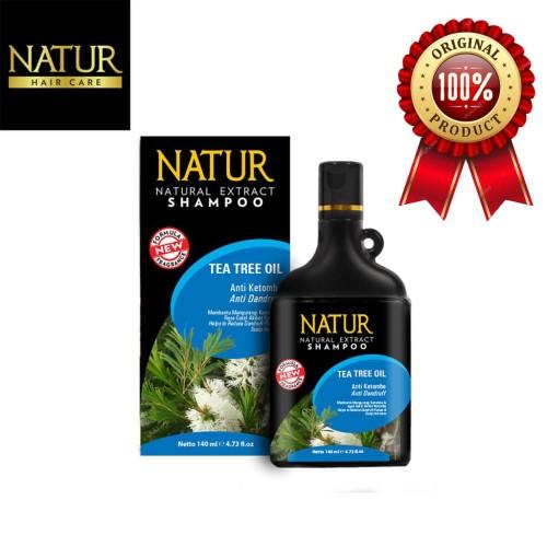 Foto Produk NATUR Natural Extract Shampoo Anti Dandruff Tea Tree Oil 140 ml dari BCOOL