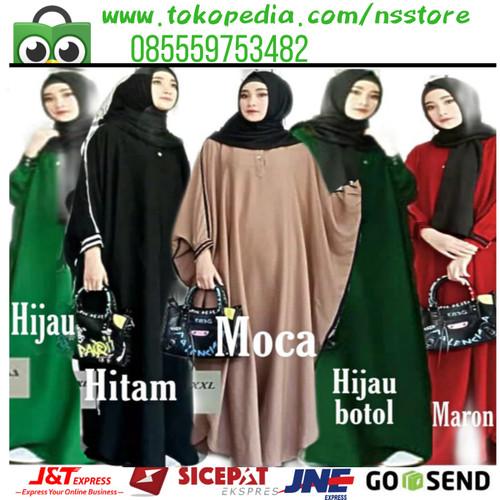 Foto Produk Pakistan Abaya / Gamis jumbo / kaftan jumbo big size/ Abaya Jumbo - Mocca dari NS Store