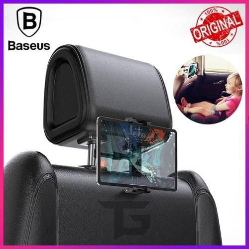 Foto Produk BASEUS Backseat Headrest Car Phone Holder Mount Bracket iPad Tablet HP dari TopGear Superhero ID