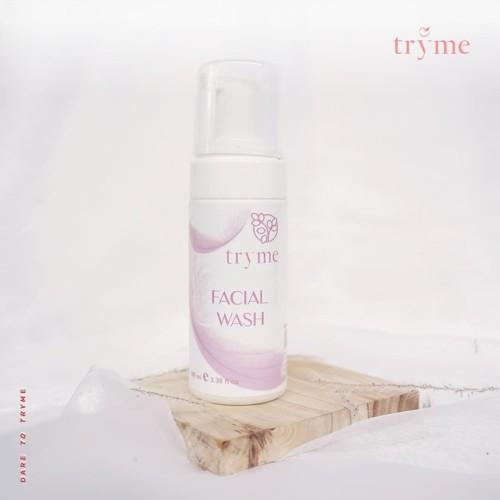 Foto Produk Tryme Facial Wash, Sabun Pencerah Kulit Untuk Kulit Normal Berminyak dari DELASHA STORE