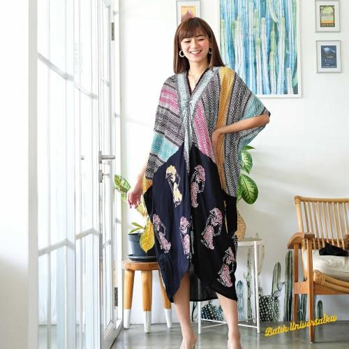 Foto Produk KAFTAN BATIK Parang Wayang. Batik Dress Kaftan Midi - Rainbow dari Batik Universal