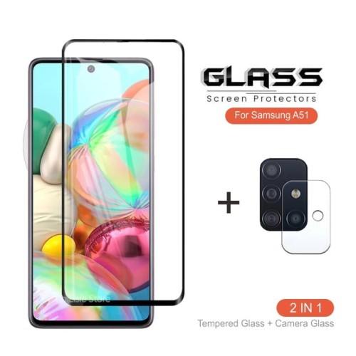 Foto Produk PAKET Tempered Glass Kamera + TG Anti Gores SAMSUNG GALAXY A51 - Premium dari ROTI PANGGANG OnlineShop