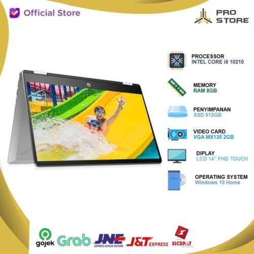 Foto Produk HP Pavilion X360 14 dh1052TX dh1053TX i5 10210 8GB 512ssd MX130 + OHS dari ProStoreComputer